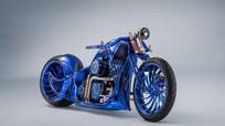 Cận cảnh chiếc Harley Davidson mạ vàng và kim cương đắt giá nhất thế giới