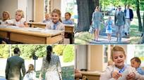 Hình ảnh đáng yêu của các hoàng tử và công chúa trong ngày đầu đi học