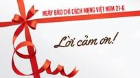 Thư cảm ơn của Báo Nghệ An dịp kỷ niệm 95 năm Ngày Báo chí Cách mạng Việt Nam (21/6)
