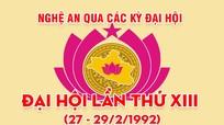 Nghệ An qua các kỳ Đại hội: Đại hội đại biểu Đảng bộ tỉnh lần thứ XIII (27 - 29/2/1992)