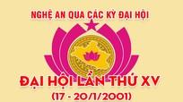 Nghệ An qua các kỳ Đại hội: Đại hội đại biểu Đảng bộ tỉnh lần thứ XV (17 - 20/1/2001)