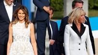 Thông điệp váy áo của Melania Trump và Brigitte Macron ở Bỉ
