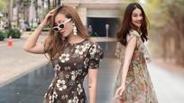Diện váy hoa liền thân hợp mốt mùa hè như sao Việt
