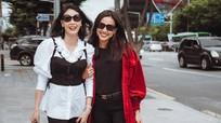 Ngắm bộ ảnh hai hoa hậu Hà Kiều Anh - Dương Mỹ Linh như chị em