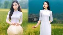 Hoa khôi sinh viên Nghệ An từng thi HHVN 2020 khoe nhan sắc ngọt ngào với áo dài trắng