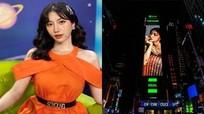 Nữ ca sĩ 'Người lạ ơi' xuất hiện trên bảng quảng cáo ở Quảng trường Thời Đại