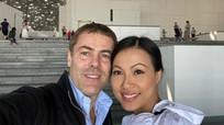 Hoa hậu Ngô Mỹ Uyên ở nhà dát vàng, lấy chồng giáo sư Italy giờ ra sao?