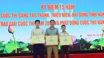 Lần đầu tiên học sinh Nghệ An đạt giải Nhất tại Hội thi Sáng tạo Thanh, thiếu niên, nhi đồng toàn quốc