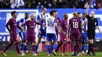 Man City nhận án phạt sau thất bại trước Wigan