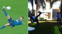 Phóng viên gãy chân, nhập viện vì bắt chước Ronaldo