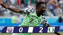 Musa lập cú đúp, Nigeria cứu vãn cơ hội đi tiếp cho Argentina