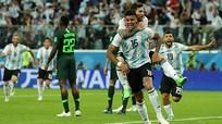 Xem lại bàn thắng của Messi và Rojo đưa Argentina vào vòng 1/8