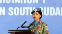 """Ngắm những """"bóng hồng"""" Việt Nam tham gia Lực lượng gìn giữ hòa bình LHQ ở Sudan"""