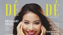 Phạm Hương rạng rỡ trên bìa tạp chí danh giá của Pháp Dé Modé