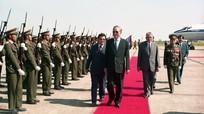 Lãnh đạo CHDCND Lào gửi điện chia buồn Đại tướng Lê Đức Anh từ trần