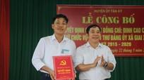 Tân Kỳ: Trao quyết định chuẩn y Phó Bí thư Đảng ủy xã
