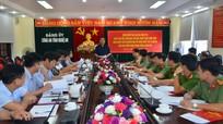 Đoàn kiểm tra của Bộ Chính trị làm việc với Đảng bộ Công an tỉnh Nghệ An