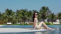 Mẹ đơn thân Dương Cẩm Lynh khoe dáng nuột bên hồ bơi