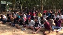 Gần trăm cảnh sát vây bắt sòng bạc trong rừng cao su