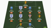 Đội hình tiêu biểu ở tứ kết World Cup: Griezmann sánh vai De Bruyne