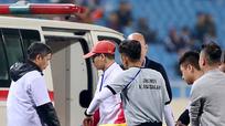 Cầu thủ Brunei nhập viện cấp cứu sau va chạm với cầu thủ Thái Lan