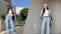 Gợi ý phối đồ mùa hè với quần jeans ống suông năng động