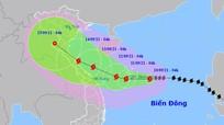 Bão Conson (bão số 5) giật cấp 13 hướng vào từ Quảng Trị - Quảng Ngãi