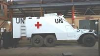 Xe thiết giáp cứu thương Việt Nam làm nhiệm vụ quốc tế