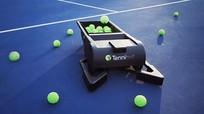 Robot nhặt bóng tennis tự động có thể kết nối với điện thoại