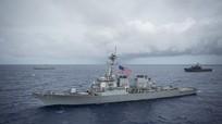 Chiến hạm Mỹ đi qua eo biển Đài Loan giữa căng thẳng với Trung Quốc
