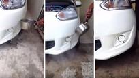 Độc chiêu chữa móp méo ô tô không cần mang tới gara