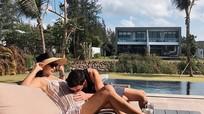Chân dài Hà Anh khoe chồng ngoại quốc 'nghiện' hôn bụng bầu