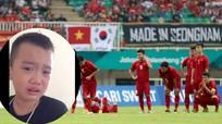 CĐV nhí khóc nức nở vì Olympic Việt Nam thua UAE trên chấm luân lưu