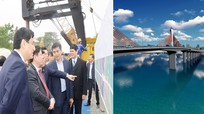 Bộ trưởng Bộ GTVT dự lễ ra quân xây cầu Cửa Hội bắc qua sông Lam