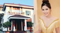 Á hậu Hoàng Hạnh xây biệt thự 700 m2 to nhất xã cho bố mẹ ở Nghệ An