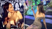 Trang phục lộ 2/3 vòng một của Hoa hậu Mai Phương Thúy gây xôn xao 'cư dân' mạng