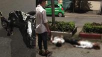 Xe máy 'kẹp' 5 đâm vào dải phân cách, 4 người chết