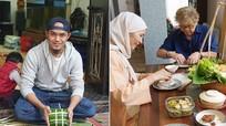 Chàng rể Malaysia gói bánh chưng thu phục nhà vợ ở Việt Nam