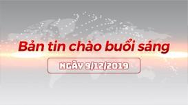 Bản tin chào buổi sáng Nghệ An ngày 9/12/2019
