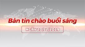 Bản tin chào buổi sáng Nghệ An ngày 20/12/2019