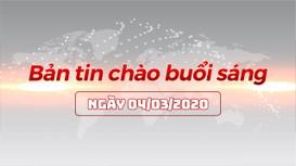 Bản tin chào buổi sáng Nghệ An ngày 04/03/2020