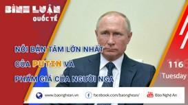 Nỗi bận tâm lớn nhất của Putin và phẩm giá của người Nga