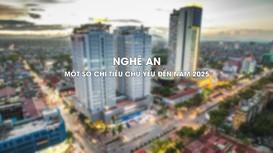 Nghệ An - Một số chỉ tiêu chủ yếu đến năm 2025