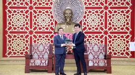 Chủ tịch UBND tỉnh tiếp thân mật Đại sứ đặc mệnh toàn quyền nước CHDCND Lào
