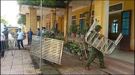 Quân đội gấp rút vào cuộc xây dựng, sắp xếp khu cách ly tập trung sau 4 ca dương tính tại Hà Tĩnh