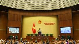 Quốc hội thảo luận trực tuyến về dự án Luật Cảnh sát cơ động