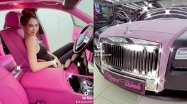 Ngọc Trinh khoe siêu xe Roll Royce hơn 30 tỷ, làm 'chao đảo' mạng xã hội