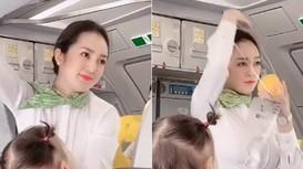Nữ tiếp viên hàng không xinh đẹp bị 'quay lén' gây xôn xao mạng là ai?