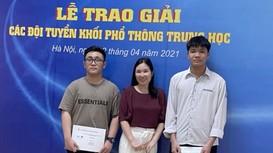 3 học sinh Nghệ An được lọt vào đội tuyển Quốc gia tham dự các Kỳ thi Olympic