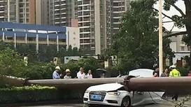 Xe Audi bị cần cẩu khổng lồ đè bẹp, tài xế thoát chết thần kỳ